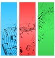Music notes color vector image