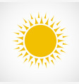 sun icon yellow color vector image