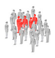 target group focus group - business concept vector image