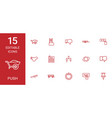 15 push icons vector image vector image