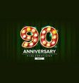 90 years anniversary banner ninety vector image vector image