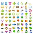 a lot of icons vector image vector image