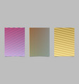abstract gradient stripe pattern page template vector image vector image