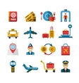 Airport and Airlines Services Icons vector image