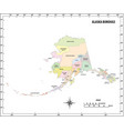 alaska state outline administrative map vector image vector image
