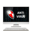 Anti-virus software Stock vector image vector image