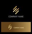 arrows dynamic gold logo vector image vector image