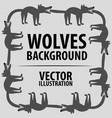 background with wolves cartoon flat characters vector image vector image