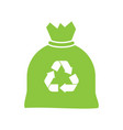 bag recycle garbage icon vector image