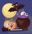 bat magic halloween holiday cartoon vector image vector image