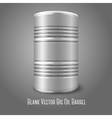 Blank big oil barrel isolated on gray With place vector image vector image