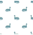 Blue dinosaurs Seamless pattern vector image vector image