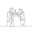business deal failure concept single continuous vector image