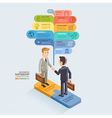 Businessman Handshake On Jigsaw Puzzle vector image vector image