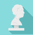 bust of the ancient writer icon flat style vector image