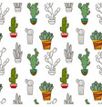 cacti cute seamless background vector image