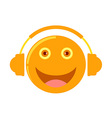 cartoon listening to music vector image
