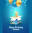 celebrating three years birthday 3d vector image