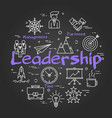 chalk board concept - leadership sign vector image vector image