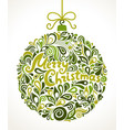 christmas greeting card swirl vector image