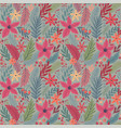 christmas seamless floral pattern hand drawn vector image vector image