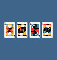 collection various king playing cards vector image vector image