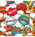colorful comics seamless background pattern vector image vector image
