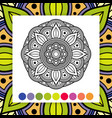 coloring mandala asian oriental decorative vector image