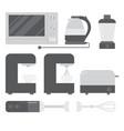cooking equipment set vector image