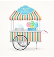 Cotton Candy Street Market Stall vector image