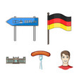 country germany cartoon icons in set collection vector image vector image