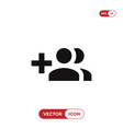 create group button icon vector image vector image