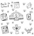 Doodle of hand draw school vector image vector image
