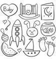 doodle toy bastyle object vector image vector image