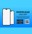 download page mobile app empty screen vector image vector image