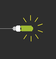 eco bulb green on black vector image