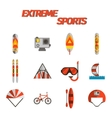 Extreme sports flat icon set vector image vector image