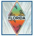 florida summer tee graphic design vector image vector image