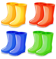 four boots in different colors vector image