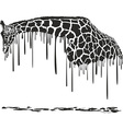 Giraffe painting vector image vector image