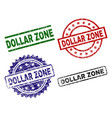 grunge textured dollar zone seal stamps vector image vector image