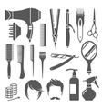 Hairdressing equipment symbols vector image vector image