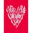 Happy Valentins Day lettering background vector image vector image