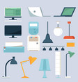 home and office electronics set vector image vector image
