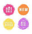 hot sale new big deal special offer promo stickers vector image vector image