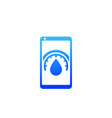 humidity control mobile app icon on white vector image vector image