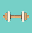 icon in flat design dumbbell vector image