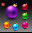 image of bright and luminous realistic christmas vector image