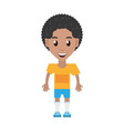 isolated man player soccer cartoon vector image vector image