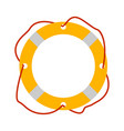 lifebuoy icon tourism equipment vector image vector image